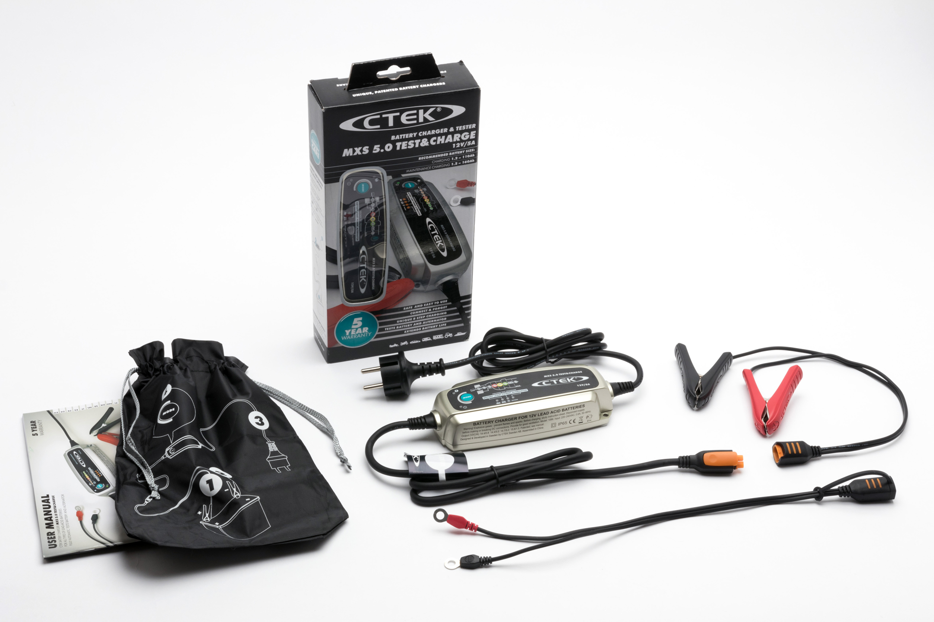Ctek mxs7.0 Battery Charger 5 year warranty
